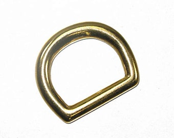 "1"" D-Ring Solid Brass - 10 Pack 1132-11"