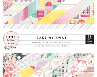 Pink Paislee - Paige Evans - Take Me Away - 6x6 Paper Pad - 36 Sheets - 310399