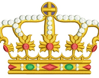duc crown embroidery design
