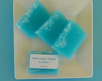 Blue Shower Favors - Baby Shower Soap Favors - Bridal Shower Soap Favors - Turquoise Soap
