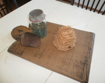 Primitive Bread Board / table display / hanging bread board