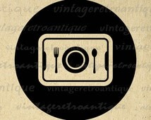 Digital Image School Lunch Graphic Cafeteria Tray Printable Download Antique Clip Art Jpg Png Eps  HQ 300dpi No.4451