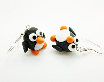 2x penguin earrings