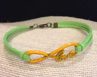 Yellow&Lime Love Infinity Bracelet