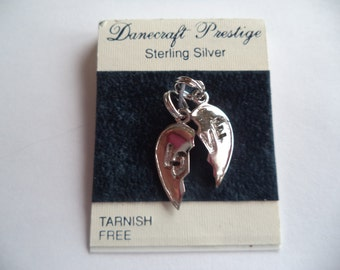 Danecraft Sterling Silver Broken Heart Love Charms    (2 Charms)