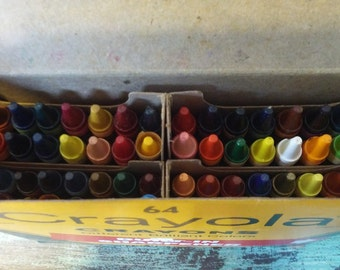 1983 Crayola Crayons 64 count, Never Used