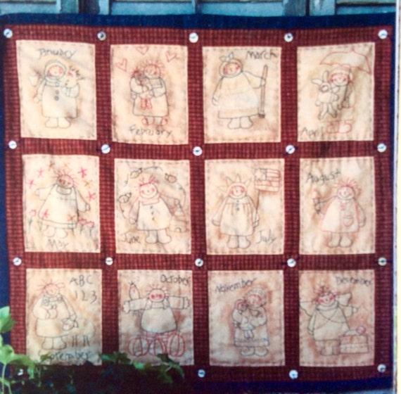 Monthly Calendar Quilt Patterns : Plum creek collectibles annie s calendar quilt