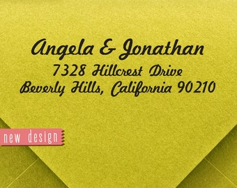 CUSTOM ADDRESS STAMP, personalized pre inked address stamp, pre inked custom address stamp, return address stamp and proof - b5-60