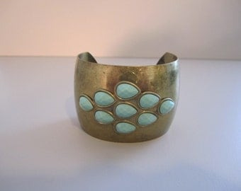 Wide Brass Cuff Bangle