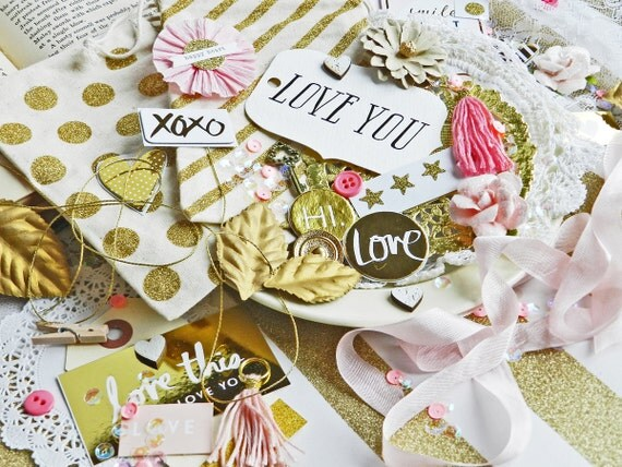 Wedding Gift Wrapping Ideas: Gift Wrap Kit / Pink And Gold Gift Bags / Gold By