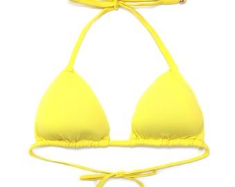 Brazilian Bikini Top Swimsuit Swimwear Arpa Bikineria Yellow Triangle Top