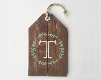 Last Name Letter Sign, Monogram Initial Sign, Anniversary Gift, Housewarming Gift, Outdoor Door Decor, Rustic Home Decor Sign