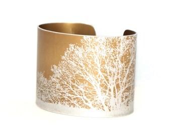 Branches cuff - anodised aluminium bracelet