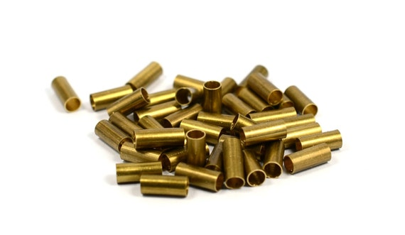 Pcs raw brass mm industrial tube spacers findings