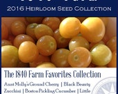 The 1840 Farm Favorites Collection - Heirloom, non-GMO Seed Collection