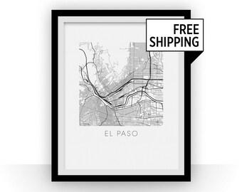 El Paso Map Print
