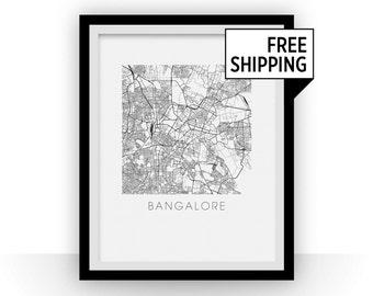 Bangalore Map Print