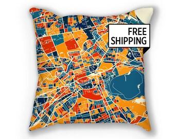 Edinburgh Map Pillow - Scotland Map Pillow 18x18