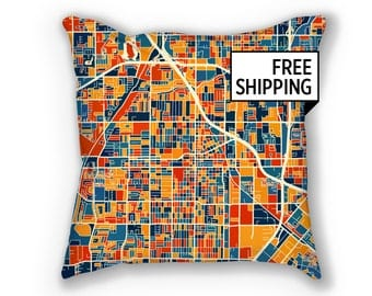 Santa Ana Map Pillow - California Map Pillow 18x18