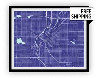 Denver Map Print - Choose your color