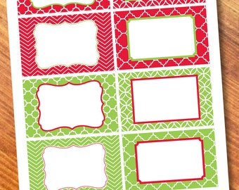 Printable Labels Red/Green