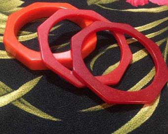 Octagonal bakelite bangles