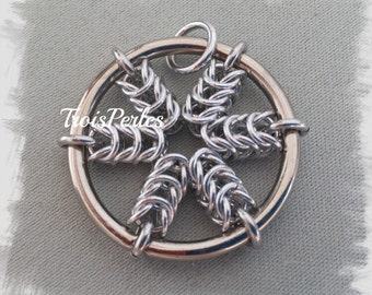 05 Chain Maille beads - Chainmaille pendant