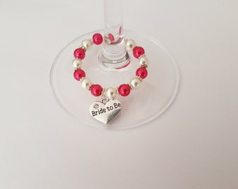 Wine Glass Charms, Bride to be charms, Hen Night Favours, Hen Party Wine Glass Charms, Hen Party Decorations, Bride to be, Wedding Favours