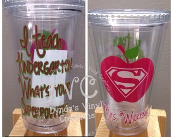 Kindergarten Teacher Tumbler