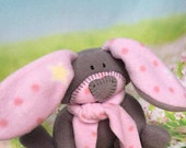 This one has a Little Star - Bunny --- waldorf baby toy --- handmade stuffed rabbit --- baby shower gift --- pink baby decor