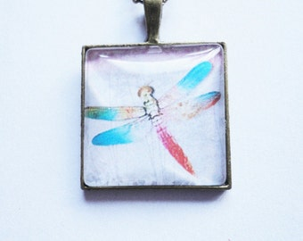 Necklace Summer Dragonfly
