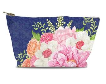 Floral Bloom Zipper Pouch