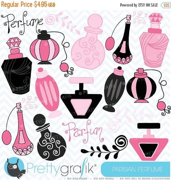 80% OFF SALE Parisian perfume clipart commercial use, vector graphics, digital clip art, digital images - CL308