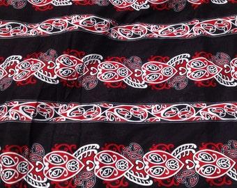 Full Length Maori Print Fringeless Sarong/Pareu Or Pareo..
