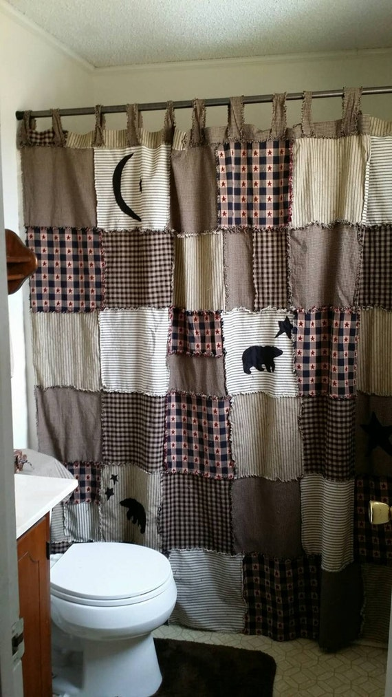 Primitive Shower Curtain Outhouse Shower Curtain By