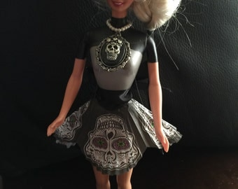 "Sugar Skull Pre Loved Barbie ""cassandra"""