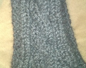 Cabled Hand Knit Alpaca Scarf