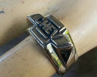 Chevrolet car  sterling silver  cheve ring