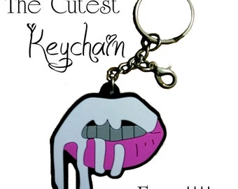 PERFECT Stocking Stuffer..  **FREE SHIPPING**  Kylie Jenner Lip Kit Inspired Key Chain or Charm  Cute Keychain Holiday Gift