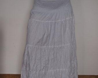 Sacred white summer maxi long cotton skirt