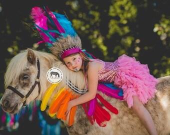 KIDS Tribal Princess - Peacock Feather Crown