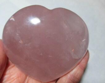 Large Blush Pink Rose Quartz Heart - Self-Love - Heart Chakra