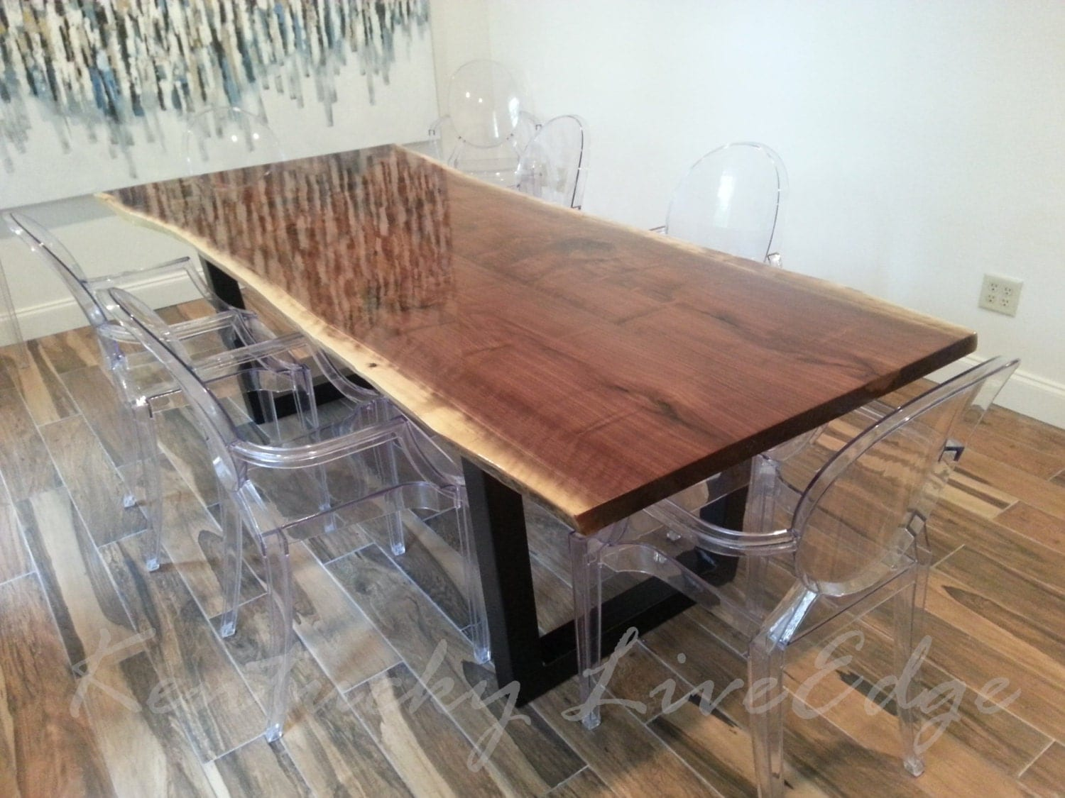 Live Edge Dining Table Made to Order Custom Dining Table