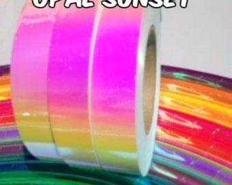 "1"" Opal Sunset Metallic Hula Hoop Tape - You Choose the Length"