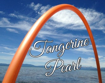 "Tangerine Pearl Colored 3/4"" or 5/8"" PolyPro Hula Hoop - You pick the size - by Colorado Hula Hoops"