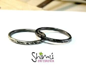 Alianzas para boda en plata de ley. Wedding bands. Sterling silver. Gold.