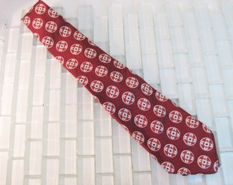 1940s Brown Pattern Necktie WWII era Murrytown USA