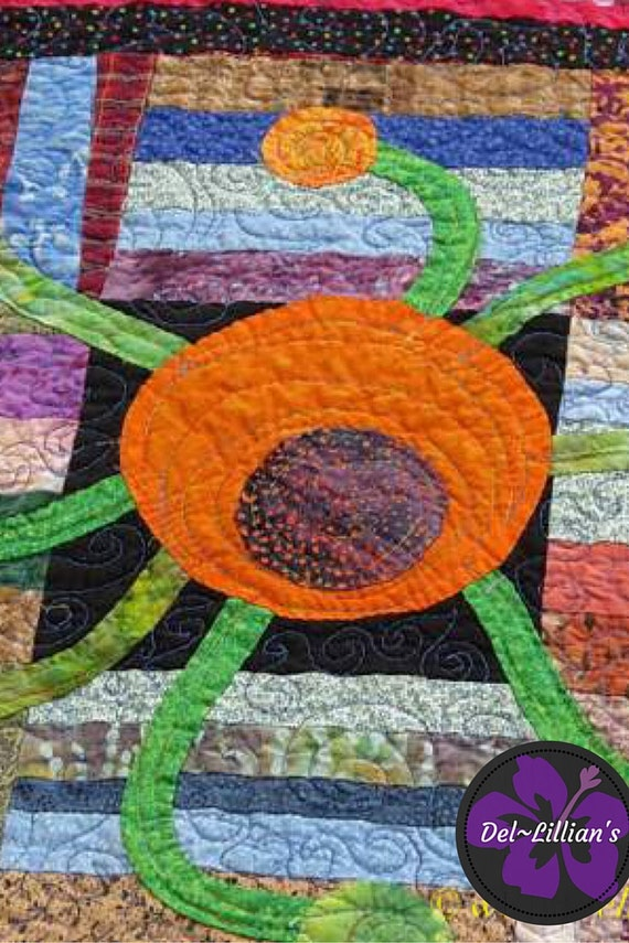 Contemporary Quilted Wall Hanging, Modern Art Quilt, Quilted wall hanging, Wall Hanging, Hand Appliqued Quilt