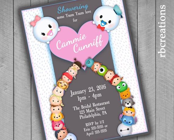 il_570xN.924300478_e0dr tsum tsum baby shower invitations tsum tsum party tsum tsum,Tsum Tsum Invitation