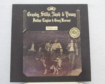 "Crosby, Stills, Nash and Young, Dallas Taylor and Greg Reeves -  ""Deja Vu"" vinyl record (NT)"